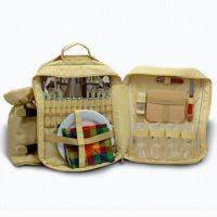 China Camping Accessories, Composed of Picnic Backpack, Fork, Spoon and Wine Cup on sale