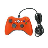 Buy cheap Wired Connection XBOX 360 Game Controller Orange Color 2 Vibration Feedback Motors product
