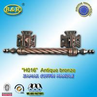 Buy cheap Long Metal Coffin Barref H016 Coffin Handles Antique Bronze 30*7.5 Cm from Wholesalers
