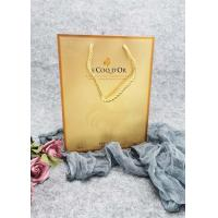 Buy cheap Durable Metallic Foil Paper Carrier Bags With Twisted Handles Hot Stamping product