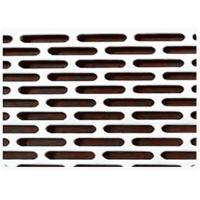 Buy cheap 0.4-3mm Thick Slotted Perforated Metal , Slotted Sheet Metal Large Open Area product