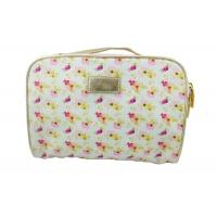 China Beautiful Flower Design Travel Accessory Bag For Skin Care Products on sale