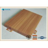 Buy cheap Outdoor Facade Decoration Wood Grain Aluminium Composite Panel 3mm Thickness product