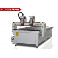 China Double Separate Heads Computerised Wood Carving Machine , Precision Stamp Engraving Machine on sale