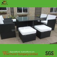 Rattan Cube Set, Rattan Garden Furniture, Wicker Dining Table, Square Table