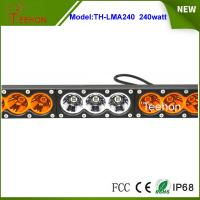 """Stainless bracket 43.2"""" LED lighting bar Cree 240w truck roof off road tractor"""