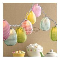 Buy cheap Blue green yellow egg shape Paper Lantern String Lights easter baby shower decoration product