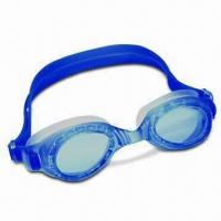 Buy cheap Anti-fog Swimming Goggles with Soft Silicone Strap, Available in Various Colors product
