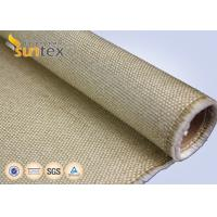 Buy cheap 1.3mm Industrial Fire Blanket Roll Vermiculite Glassfiber Cloth 800 C Heat Resistant Fiberglass Welding Blanket Roll product
