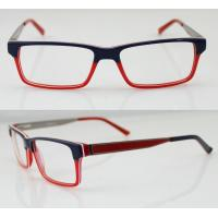 Buy cheap Fashion Women Acetate Optical Frames, Red & Black Handmade Acetate Glasses from wholesalers