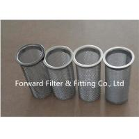 Buy cheap Stainless Steel Reel Flange Industrial Filter Cartridge , Package Edge Round Hole Ss Filter Cartridge product
