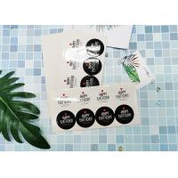 Buy cheap Present Rounded Corner Custom Adhesive Labels Smooth Paper Surface product