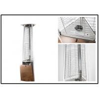 Stainless Steel Outdoor Gas Patio Heater Triangle Pyramid Patio Heater Remote Controlled