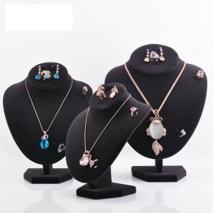 Buy cheap Varnishing Printed Black Velvet Necklace Display Hook Mannequin Display Form product