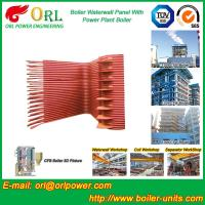 Buy cheap Condensing Gas Boiler Water Wall Panels , Boiler Membrane Wall Tube product