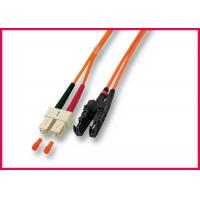 Buy cheap Flame Resistant Fiber Optic Cable Patch Cord RoHS Compliant Easy Installation product