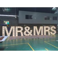 Buy cheap Customized 1.5m Height White Light up LED letter sign for weeding decoration from Wholesalers