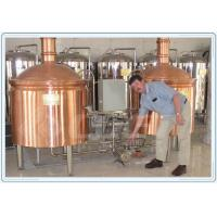 Buy cheap Industrial Fermentation Tank Small Beer Brewery Equipment Red Copper Material product