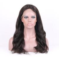 Buy cheap Top Quality  8-26 Inches Natural Color natural Straight  Human Hair Full Lace Wigs 130% density product