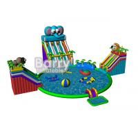 Buy cheap Summer kids play park games , elephant inflatable water park with CE,EN14960 product