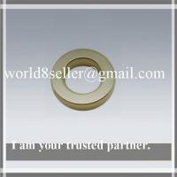 China NdFeB Ring Magnet Sintered Ndfeb N35 With Bright Nickel Plating on sale
