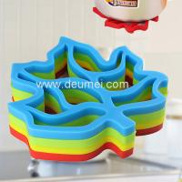 Buy cheap High Quality Practical Creative Insulation Silicone Maple Leaf shape Green Color Table mat product