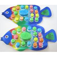 Buy cheap OEM 2.8g Fish Shape Compressed Fruity Hard Candy / Colored Powdered Sugar product