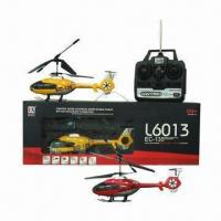 Buy cheap R/C 3-channel Helicopter with Gyro in Red/Yellow and Made of Aluminum Material product