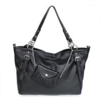 Buy cheap Wholesale Price Black Leather Fashion Shoulder Bag Handbag Purse HOBO #2002 product