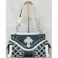 Buy cheap cowgirl black crystal beaded shoulder bags western style low price product