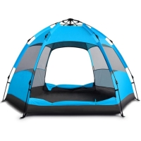 China 3-4 Person Automatic Single Layer Rainproof Camping Outdoor Portable Waterproof Tent on sale