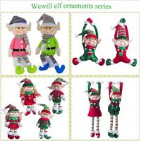 Buy cheap Lovely Holiday Plush Toys Christmas Elves Dolls 20cm Size Home Decoration product