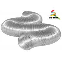 Buy cheap Compressed Semi Rigid Aluminum Duct for Industrial HVAC Systems , 150mm Aluminium Flexible Ducting product
