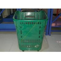Buy cheap Castor Rolling Shopping Basket With Wheels , 4 Wheeled Plastic Shopping Baskets from Wholesalers