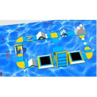 China Buid a Aqua Fun Paradise! Guangzhou Factory Provide PVC Inflatable Auqa Island Beginner Inflatable Water Park on sale