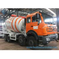 Buy cheap 8X4 85Km/h 10m3 Mixer Truck North Benz truck White And Orange product