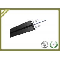 Buy cheap Indoor 2 Core FTTH Fiber Optic Drop Cable Single Mode With Messenger Steel Wire product