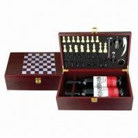 Quality Wooden Wine Chess Accessory Box, Measures 240 x 125 x 305mm for sale