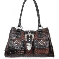Buy cheap croco pattern western handbags with rhinestone and rivets direct from factory product