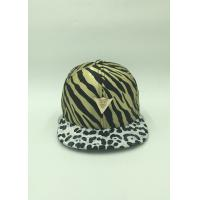 Unique Satin Sunshade Youth Snapback Hats Adjustable Leopard Pattern