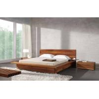 Buy cheap Bed Room Queen Size Walnut Bed Set / Wood Beds With Solid Black Walnut 1.8 * 2.0 M from wholesalers