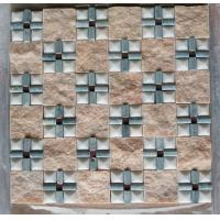 Buy cheap Natural beige pink marble floor and wall mosaic tiles paving stone mosaics sheets 305x305mm product