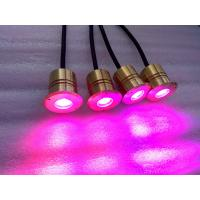 Buy cheap Marine Cree LED Deck Stair Lights 1w With 40mm Diameter Brass Housing product