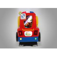 Fire Engine Colorful Racing Coin Operated Kiddie Rides For Carnival Midway