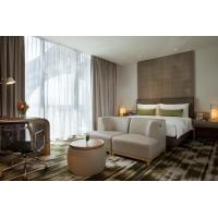 Buy cheap Fashion design of Apartment Hotel Room Natural Oak wood Bed and Lounge Bench from wholesalers