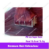 China PU remy tape on hair extensions on sale