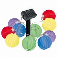 Buy cheap Silk Nylon Fabric Colored Lantern String Lights , 7.5 Cm Indoor String Lights For Bedroom product
