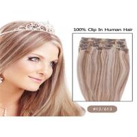 """Buy cheap Mixed Colors 10"""" 24"""" Clip In human Hair Extensions , Grade 7A Single Drawn Human Hair from Wholesalers"""