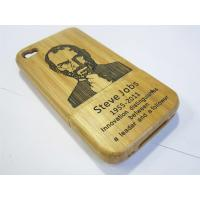 Buy cheap Original Green 100% Natural Bamboo Case Steve Jobs for iPhone 4S protective cases product