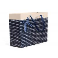 Buy cheap Blue Paper Bag Polka Dot Design For Wedding Gift Packing product